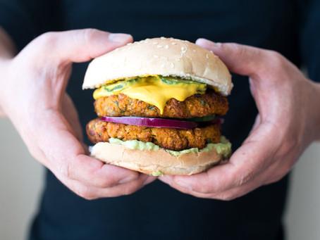 Quick recipes - Vegan sweetcorn and chickpea burger