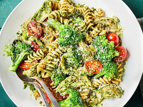 Turkey pesto and broccoli pasta
