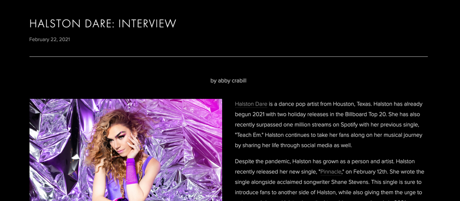 HALSTON DARE: INTERVIEW with UNCLEAR MAGAZINE