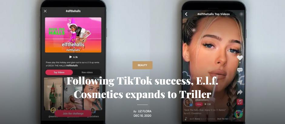 Following TikTok success, E.l.f. Cosmetics expands to Triller