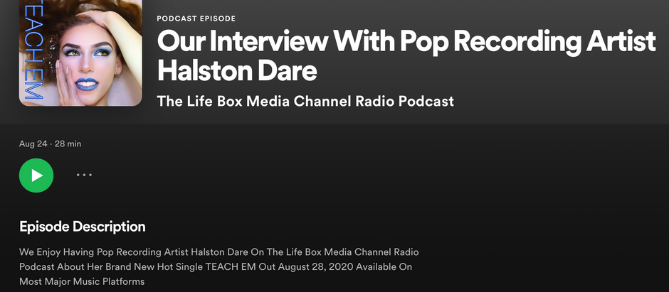 Life Box Media: Our Interview With Pop Recording Artist Halston Dare