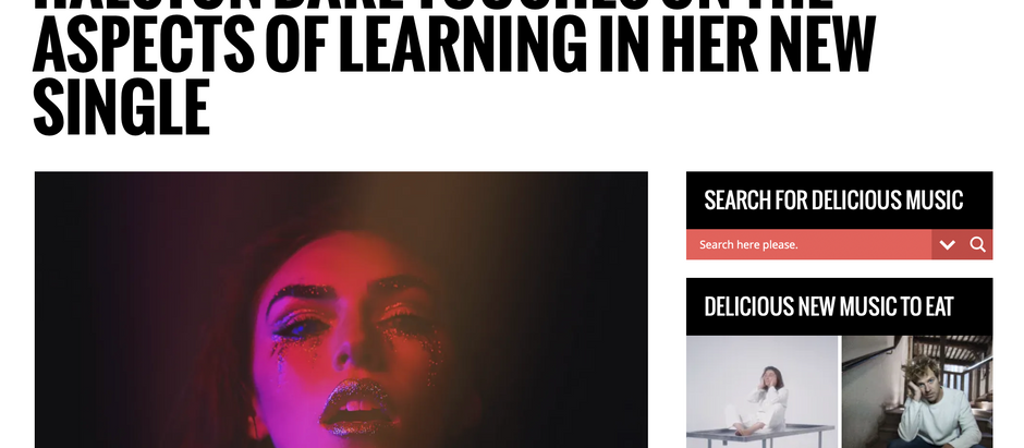 Eat This Music: HALSTON DARE TOUCHES ON THE ASPECTS OF LEARNING IN HER NEW SINGLE