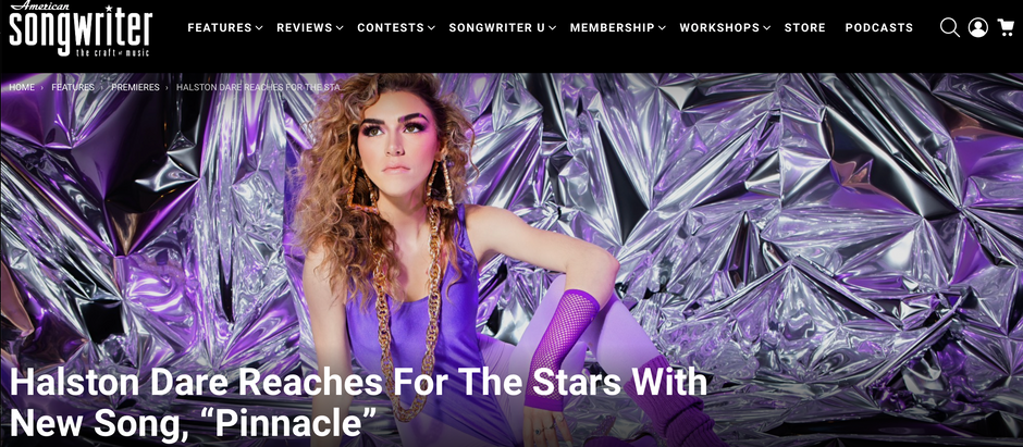"""Halston Dare New Single """"Pinnacle"""" featured in American Songwriter"""