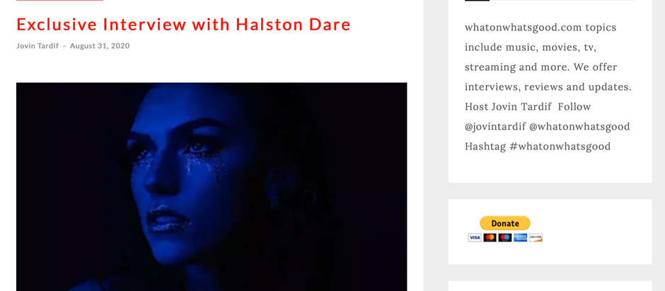 What's on What's Good: Exclusive Interview with Halston Dare
