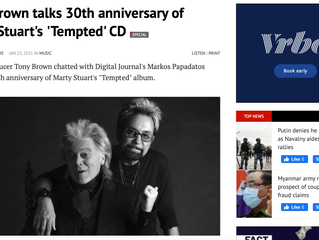 Tony Brown talks 30th anniversary of Marty Stuart's 'Tempted' CD