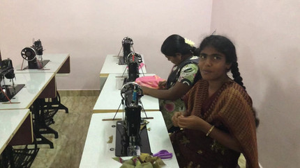 Training at the Tailoring Center