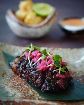 Black Angus beef rib, ginger, braised on