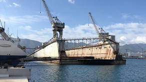 Floating Dock for Sale in Italy - 19,000t Lifting Capacity