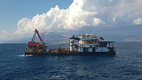 Accommodation Work Barge in the Med