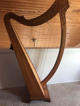 36-String Moseley Lever Harp For Sale