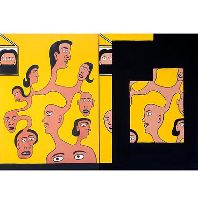 Díptico do homem isolado, 2013/2017 - Victor Arruda