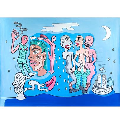 Rapazes fumando depois da chuva, 2020 - Victor Arruda