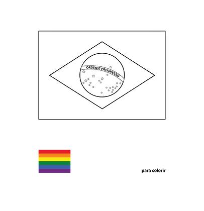 Brasil (Para Colorir), 2017 - Khalil Charif