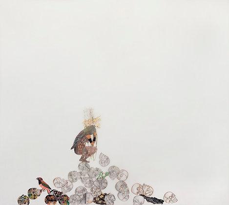 Índia com caveira - Malu Saddi