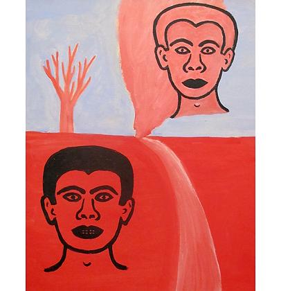 Figuras, árvore e estrada, 1998 - Victor Arruda