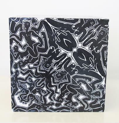 Cubo de lambe lambe preto, 2018 - Fernando de La Rocque
