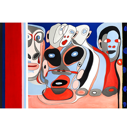 Bastidores - Homenagem a Jean Dubuffet e Jean Cocteau, 2017 - Victor Arruda