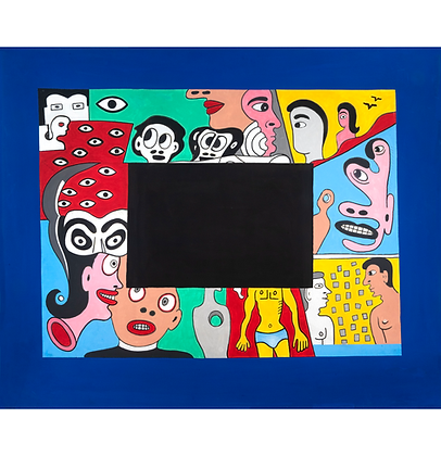 Pintura com tarja preta, 2019 - Victor Arruda