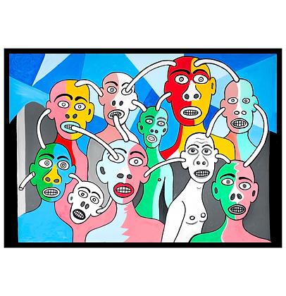 Rapazes interligados, 2020 - Victor Arruda