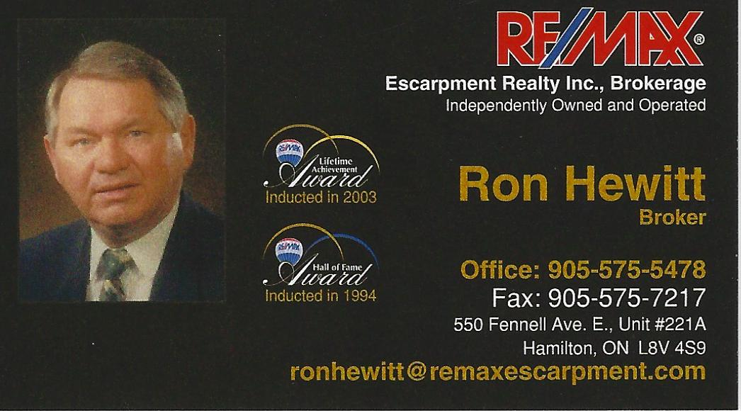 Ron Hewitt (Remax Escarpment Realty)