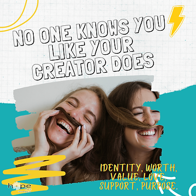NO ONE KNOWS YOU LIKE YOUR CREATOR DOES.