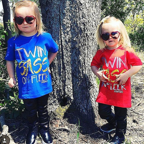 Twin Sass On Fleek tee