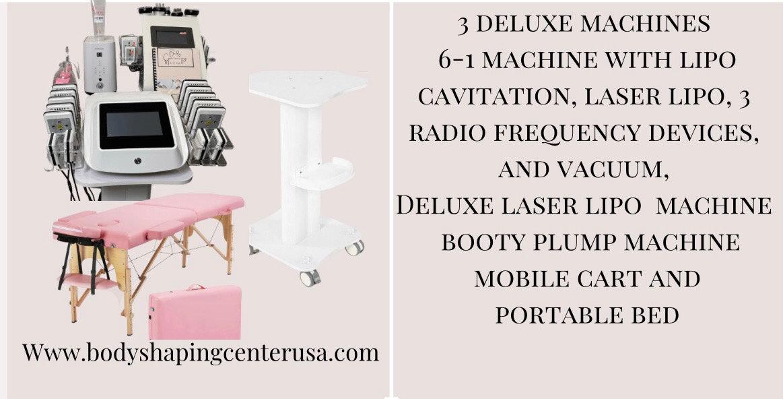 Certification 3 deluxe machines bed cart