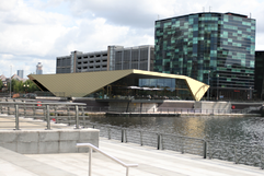The Alchemist's new bar and restaurant at Salford Quays and Digital World Centre in green