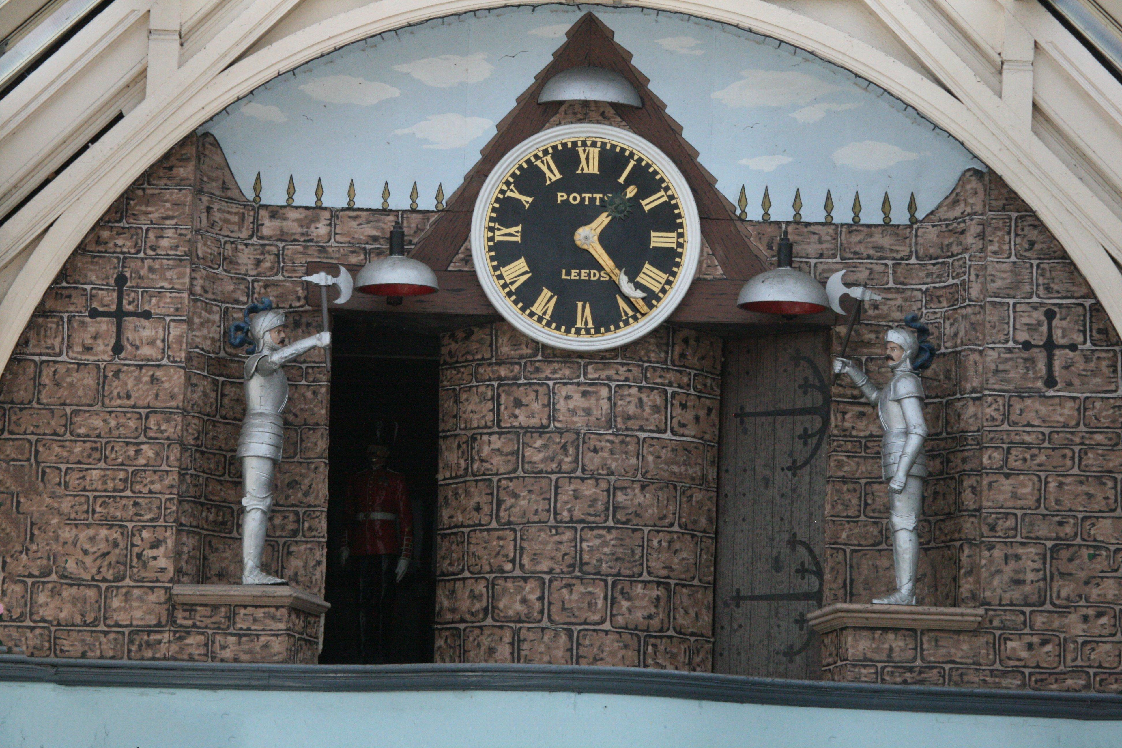The clock in arcade
