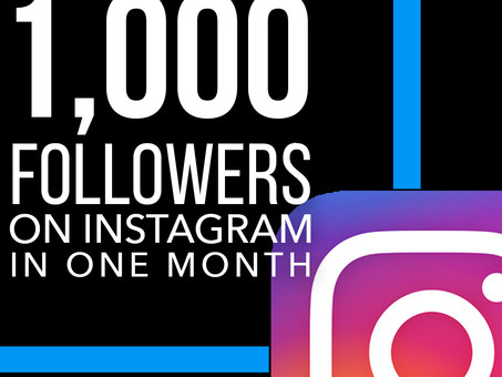 How I Got 1,000 Followers on Instagram in One Month