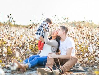 Davis Family | Cotton Field Session | Jacksonville, NC Photographer