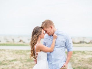 Marissa + Brad | Fort Fisher Engagement | Jacksonville, NC Photographer