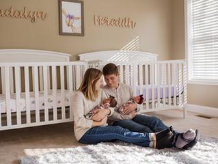 Madalyn + Meredith | Twin Baby Girls | Columbus, Ohio Newborn Photographer