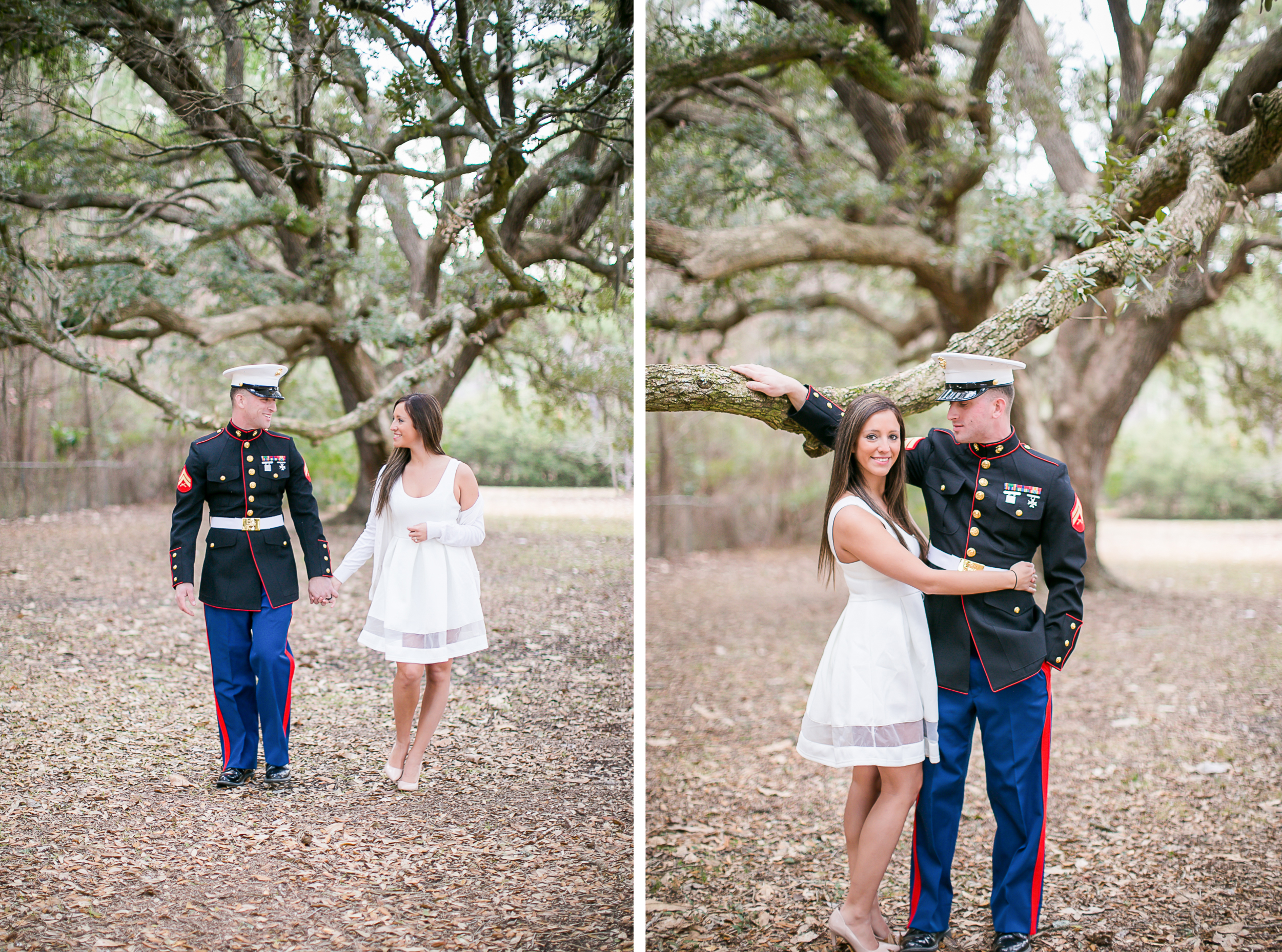 usmc dress blues couples session