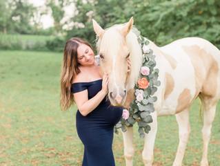 Stephanie | Horses + Baby Bumps | Columbus, Ohio Maternity Photographer