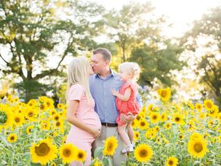 Utterback Family | Sunflower & Beach Maternity Session  | Jacksonville, NC Photographer