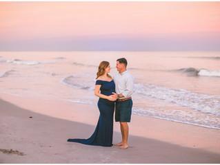 Dana & Patrick | Beach Maternity Session | Jacksonville, NC Photographer