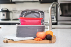 lunch bag sandwich bag Saffron Goods Fill and Slide Reusable Silicone Storage Bags