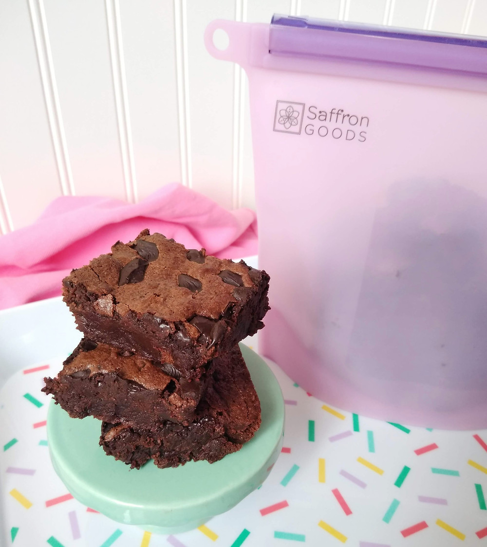 #Saffrongoods #brownies #reusablefreezerbags