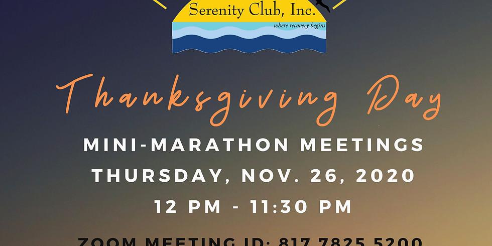 Thanksgiving Day Mini-Marathon Meetings