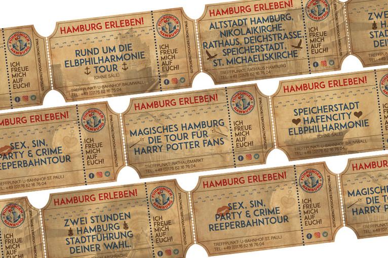 Ticket-Design  für Führungen Hamburg