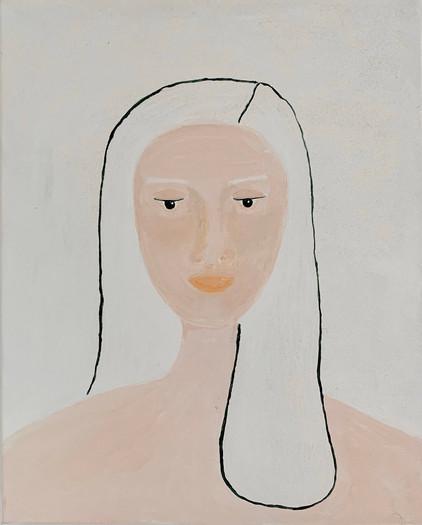 the white hair woman