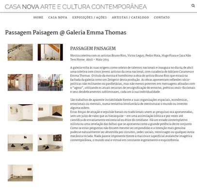 casanova - Passagem Paisagem _ Galeria E