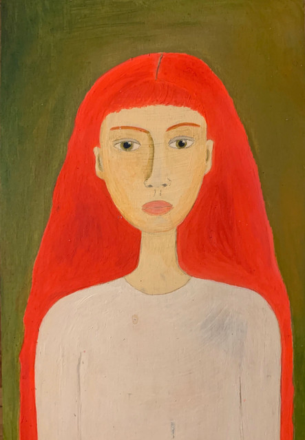 the girl with the orange hair