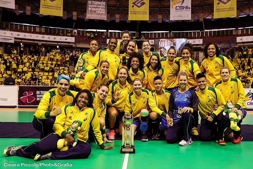 Seleção Brasileira é Campeã do III Torneio 4 Nações. (foto Cinara Piccolo/Photo&Grafia )