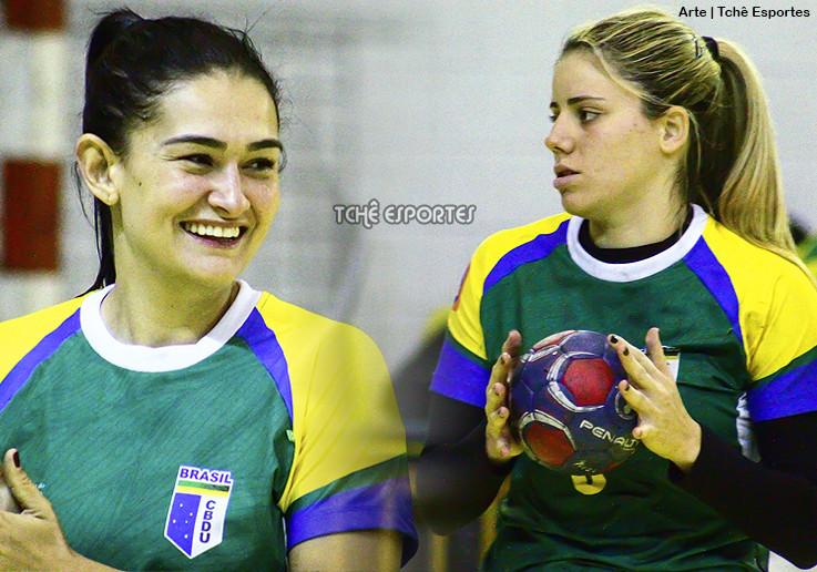 Dani Giacomazi e Carol no Santo André (arte: Tchê Esportes)