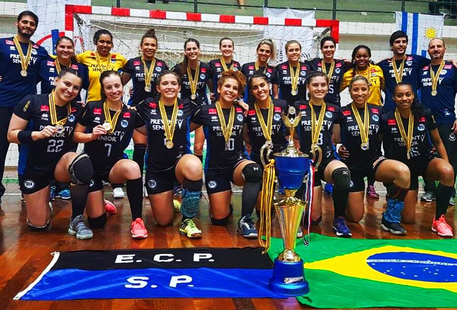 EC Pinheiros, Campeão do Pan Feminino de Clubes 2017 (foto divulgação equipe)