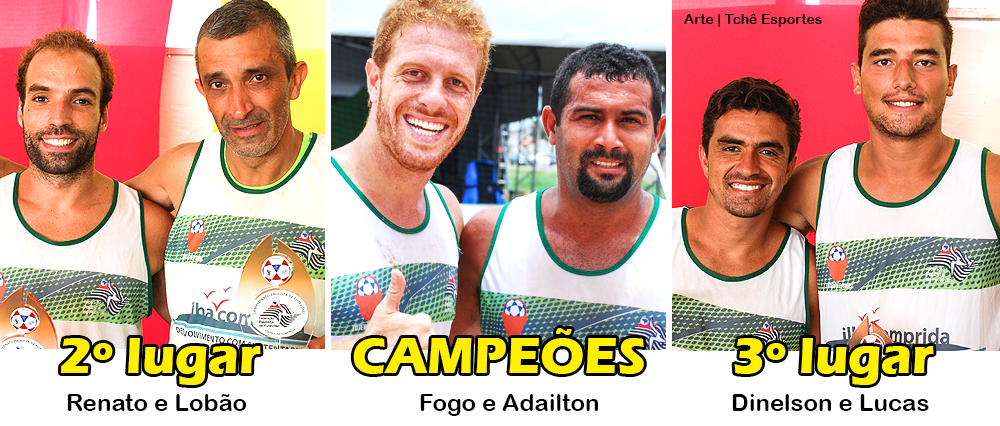 Campeões Amador Campeonato Paulista de Futevôlei, Ilha Comprida (arte: Tchê Esportes)