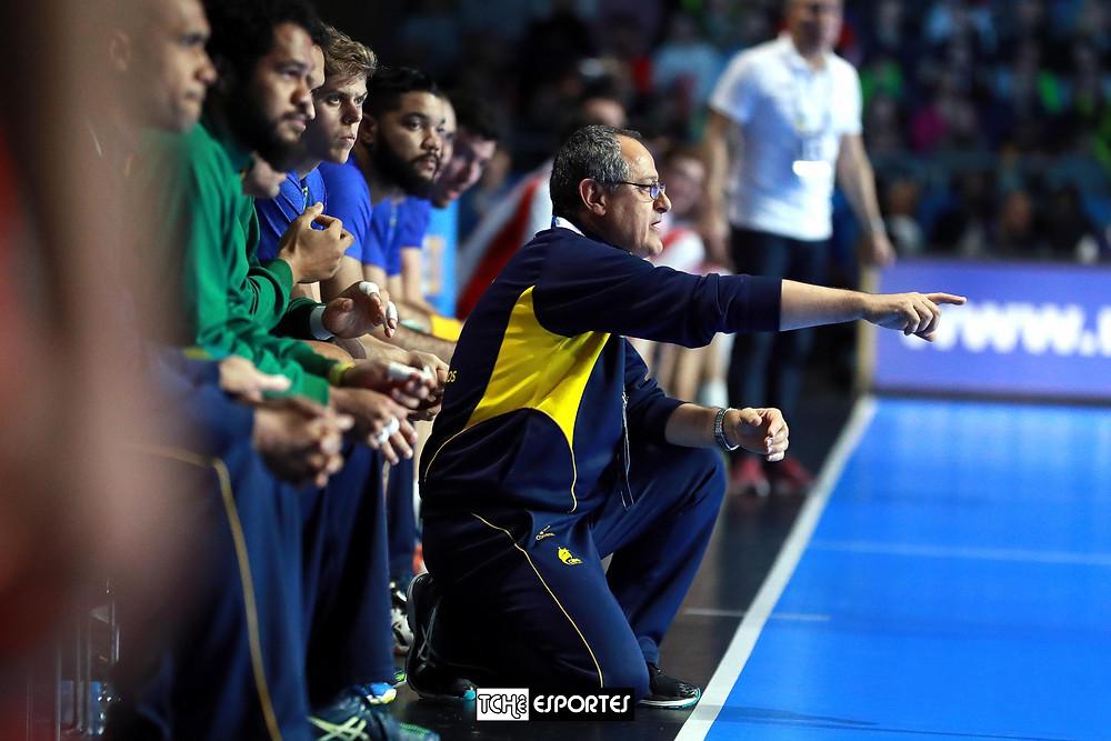 Washington Nunes, técnico da Seleção Brasileira de Handebol. (foto reprodução Divulgação)