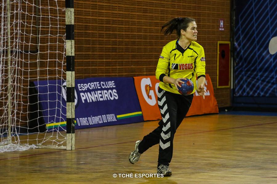 Kety Kelly, goleira do Guarulhos. (foto André Pereira / Tchê Esportes)